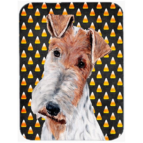 Carolines Treasures SC9652MP Wire Fox Terrier Candy Corn Halloween Mouse Pad Hot Pad Or Trivet 7.75 x 9.25 In.
