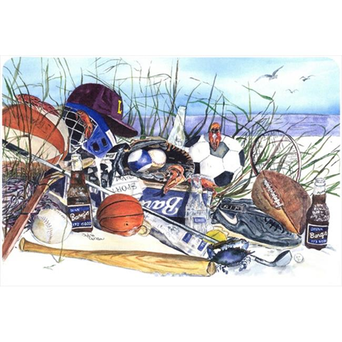 Carolines Treasures 1011MP 9.25 x 7.75 in. Sports on the Beach Mouse Pad Hot Pad Or Trivet