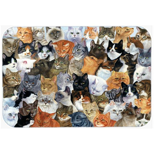 Carolines Treasures BDBA0414MP Cats Galore Mouse Pad Hot Pad or Trivet
