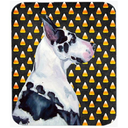 Carolines Treasures LH9067MP Great Dane Candy Corn Halloween Portrait Mouse Pad Hot Pad or Trivet