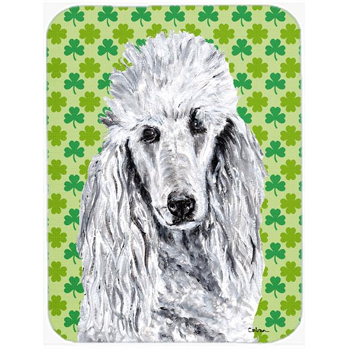 Carolines Treasures SC9727MP White Standard Poodle Lucky Shamrock St. Patricks Day Mouse Pad Hot Pad Or Trivet 7.75 x 9.25 In.