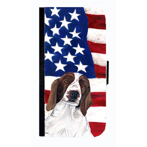 Carolines Treasures SC9024NBGALAXYS4 USA American Flag With Welsh Springer Spaniel Cell Phone Case Cover For Galaxy 4S
