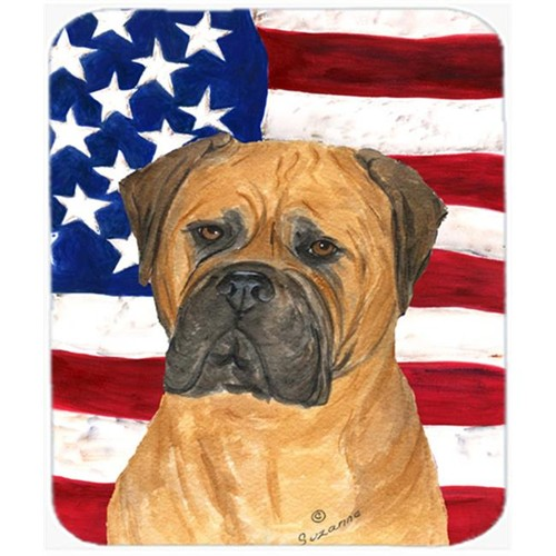 Carolines Treasures SS4001MP Usa American Flag With Bullmastiff Mouse Pad Hot Pad Or Trivet