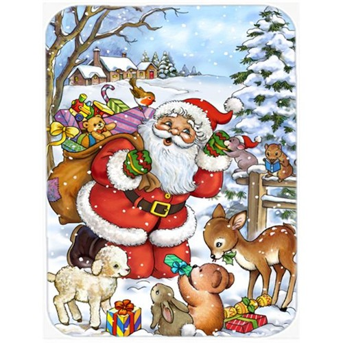 Carolines Treasures APH4571MP Christmas Santa Forrest Friends Mouse Pad Hot Pad or Trivet