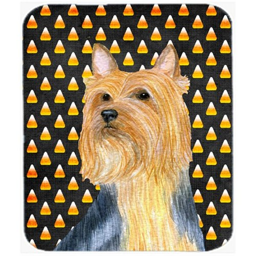 Carolines Treasures LH9057MP Silky Terrier Candy Corn Halloween Portrait Mouse Pad Hot Pad or Trivet
