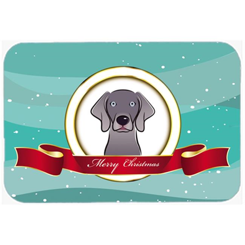 Carolines Treasures BB1541MP Weimaraner Merry Christmas Mouse Pad Hot Pad & Trivet