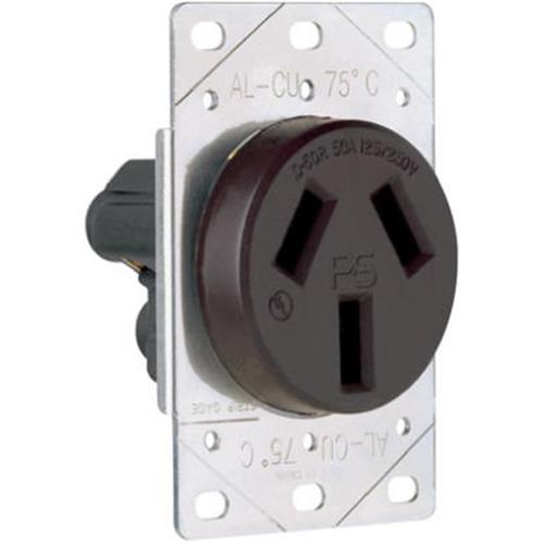 Pass & Seymour 3890CC6 Flush Outlet 50A Black