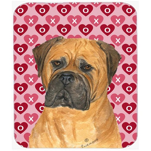 Carolines Treasures SS4517MP Bullmastiff Hearts Love And Valentines Day Mouse Pad Hot Pad Or Trivet