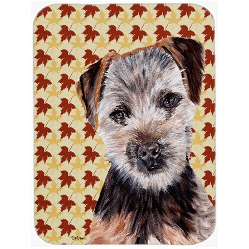 Carolines Treasures SC9687MP Norfolk Terrier Puppy Fall Leaves Mouse Pad Hot Pad Or Trivet 7.75 x 9.25 In.