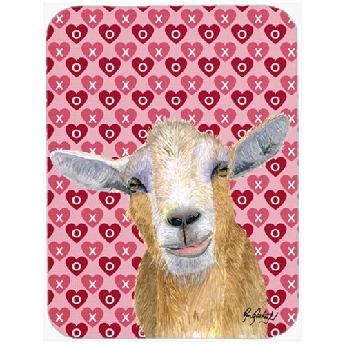 Carolines Treasures RDR3026MP 7.75 x 9.25 In. Hearts and Love Goat Mouse Pad Hot Pad or Trivet