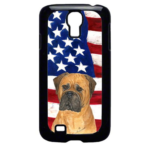 Carolines Treasures SS4001GALAXYS4 USA American Flag with Bullmastiff Cell Phone Cover GALAXY S4