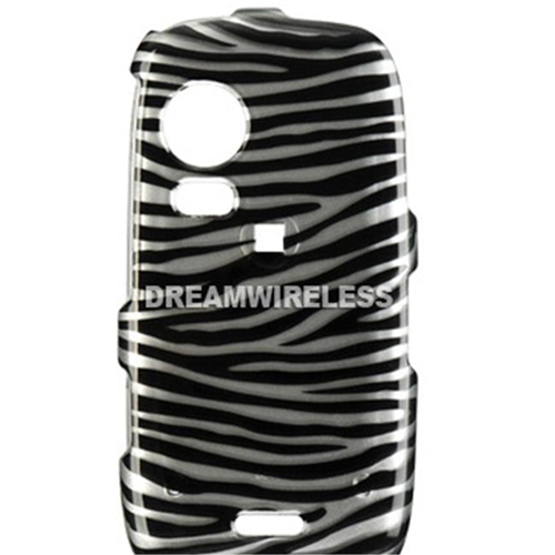 DreamWireless CASAMS50SLZ Samsung Instinct Hd S50 Crystal Case Silver & Black Zebra - Sprint