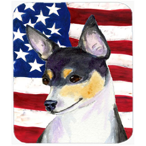 Carolines Treasures SS4002MP Usa American Flag With Fox Terrier Mouse Pad Hot Pad Or Trivet