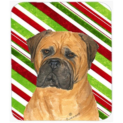 Carolines Treasures SS4586MP Bullmastiff Candy Cane Holiday Christmas Mouse Pad Hot Pad Or Trivet