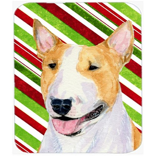 Carolines Treasures SS4565MP Bull Terrier Candy Cane Holiday Christmas Mouse Pad Hot Pad Or Trivet