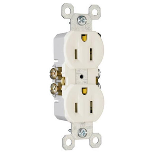 Pass & Seymour 3232LATU 15A 125V Standard Duplex Outlet - Light Almond Pack of 10