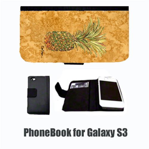 Carolines Treasures 8654-NBGALAXYS3 Pineapple Cell Phonebook Cell Phone case Cover for GALAXY S3