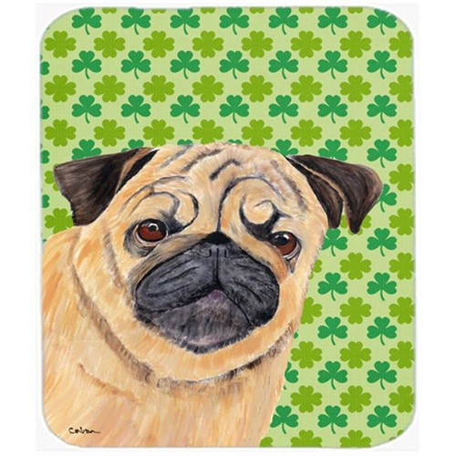 Carolines Treasures SC9291MP Pug St. Patricks Day Shamrock Portrait Mouse Pad Hot Pad or Trivet