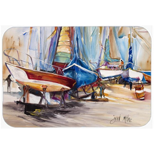 Carolines Treasures JMK1066MP On The Hill Sailboats Mouse Pad Hot Pad & Trivet