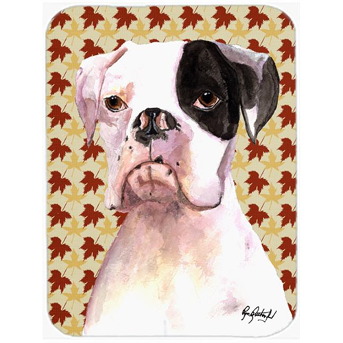 Carolines Treasures RDR3007MP 7.75 x 9.25 In. Cooper Fall Leaves Boxer Mouse Pad Hot Pad or Trivet