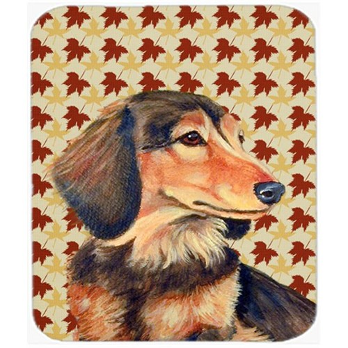 Carolines Treasures LH9121MP Dachshund Fall Leaves Portrait Mouse Pad Hot Pad Or Trivet