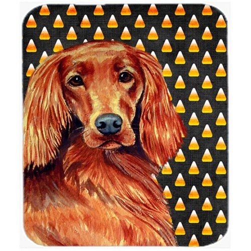 Carolines Treasures LH9039MP Irish Setter Candy Corn Halloween Portrait Mouse Pad Hot Pad or Trivet