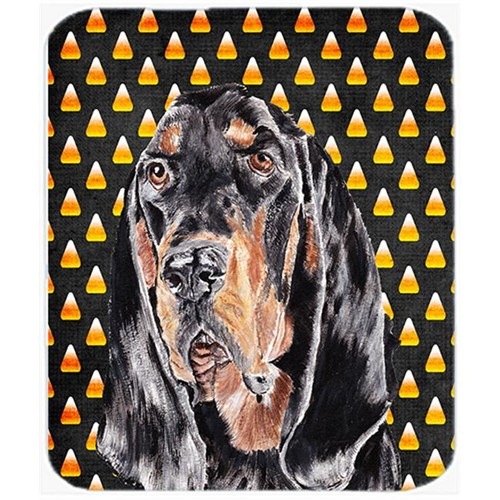 Carolines Treasures SC9525MP 7.75 x 9.25 In. Coonhound Halloween Candy Corn Mouse Pad Hot Pad or Trivet