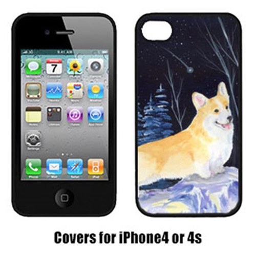 Carolines Treasures SS8353IP4 Starry Night Corgi Cell Phone cover IPhone 4
