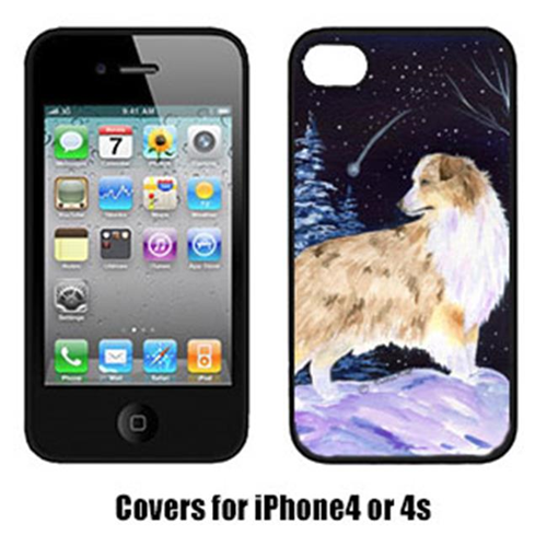 Carolines Treasures SS8359IP4 Starry Night Australian Shepherd Cell Phone cover IPhone 4