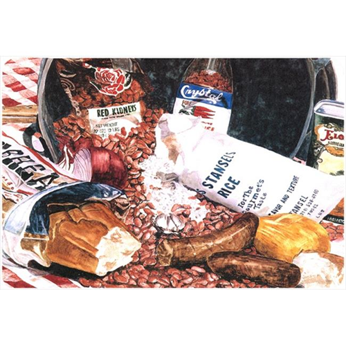 Carolines Treasures 8536MP 9.25 x 7.75 in. Red Beans and Rice Mouse Pad Hot Pad Or Trivet