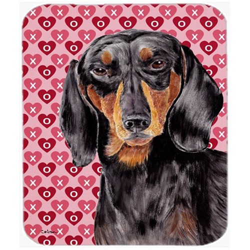 Carolines Treasures SC9276MP Dachshund Black And Tan Hearts Love Valentines Day Mouse Pad Hot Pad Or Trivet