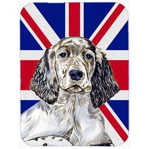 Carolines Treasures LH9474MP 7.75 x 9.25 In. English Setter With English Union Jack British Flag Mouse Pad Hot Pad Or Trivet