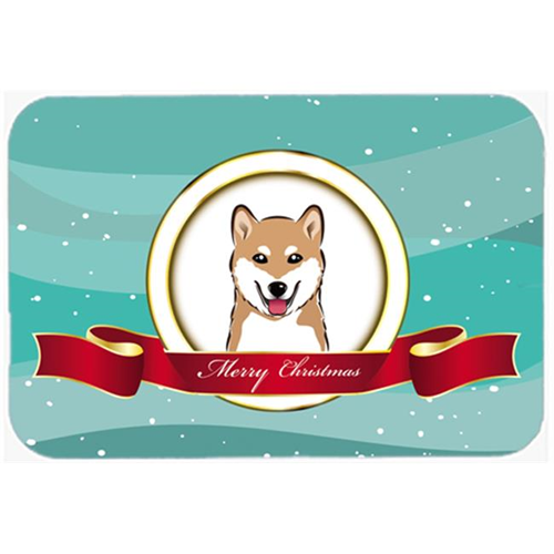 Carolines Treasures BB1535MP Shiba Inu Merry Christmas Mouse Pad Hot Pad & Trivet