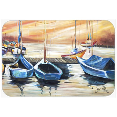 Carolines Treasures JMK1038MP Beach View With Sailboats Mouse Pad Hot Pad & Trivet