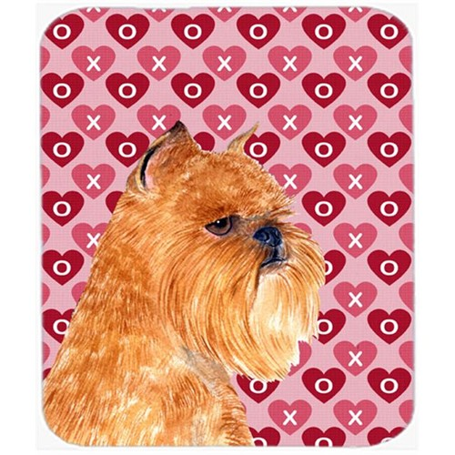 Carolines Treasures SS4494MP Brussels Griffon Hearts Love And Valentines Day Mouse Pad Hot Pad Or Trivet