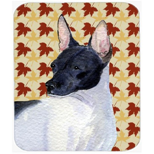 Carolines Treasures SS4376MP Rat Terrier Fall Leaves Portrait Mouse Pad Hot Pad Or Trivet