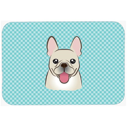 Carolines Treasures BB1176MP Checkerboard Blue French Bulldog Mouse Pad Hot Pad Or Trivet 7.75 x 9.25 In.