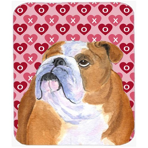Carolines Treasures SS4491MP Bulldog English Hearts Love And Valentines Day Mouse Pad Hot Pad Or Trivet