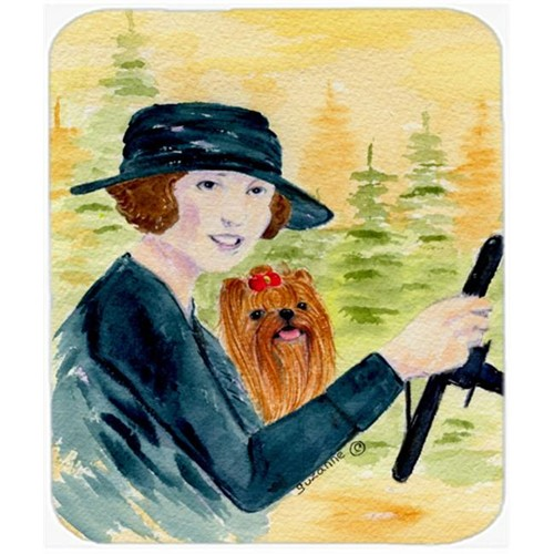 Carolines Treasures SS8550MP Lady Driving With Her Yorkie Mouse Pad Hot Pad Or Trivet