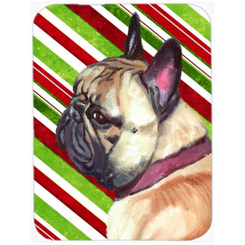 Carolines Treasures LH9594MP French Bulldog Frenchie Candy Cane Holiday Christmas Mouse Pad Hot Pad & Trivet