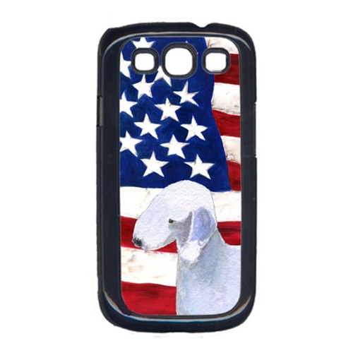 Carolines Treasures SS4045GALAXYS3 USA American Flag with Bedlington Terrier Cell Phone Cover GALAXY S111