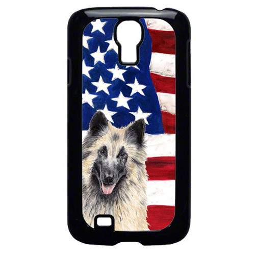 Carolines Treasures SC9116GALAXYS4 USA American Flag with Belgian Tervuren Cell Phone Cover GALAXY S4
