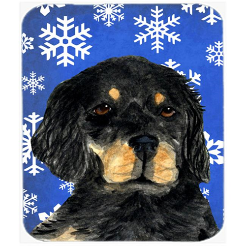 Carolines Treasures SS4653MP Gordon Setter Winter Snowflakes Holiday Mouse Pad Hot Pad or Trivet