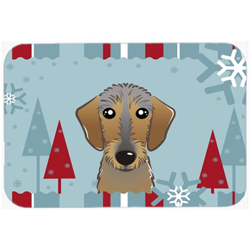 Carolines Treasures BB1729MP Winter Holiday Wirehaired Dachshund Mouse Pad Hot Pad & Trivet