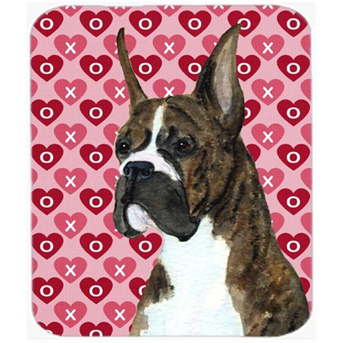 Carolines Treasures SS4508MP Boxer Hearts Love And Valentines Day Portrait Mouse Pad Hot Pad Or Trivet