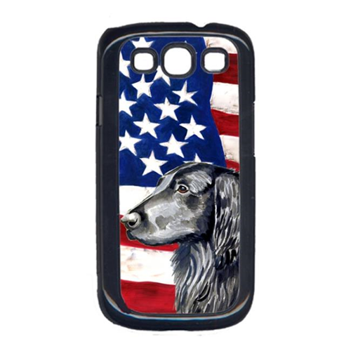 Carolines Treasures LH9021GALAXYS3 USA American Flag with Flat Coated Retriever Cell Phone Cover GALAXY S111