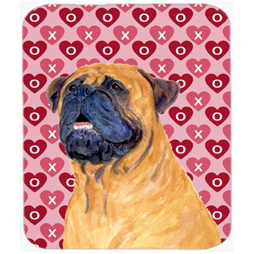 Carolines Treasures SS4520MP Mastiff Hearts Love And Valentines Day Portrait Mouse Pad Hot Pad Or Trivet