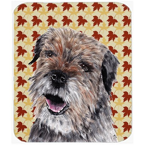 Carolines Treasures SC9543MP 7.75 x 9.25 In. Border Terrier Fall Leaves Mouse Pad Hot Pad or Trivet