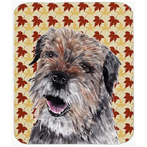 Carolines Treasures SC9543MP 7.75 x 9.25 In. Border Terrier Fall Leaves Mouse Pad Hot Pad or Trivet