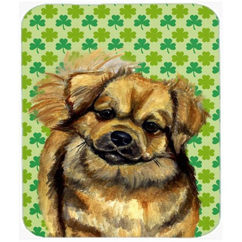 Carolines Treasures LH9214MP Tibetan Spaniel St. Patricks Day Shamrock Mouse Pad Hot Pad or Trivet